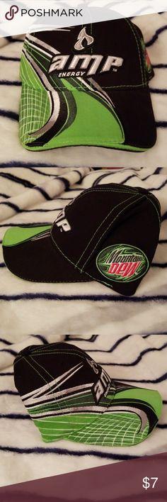 Dale Earnhardt Jr Amp/Mountain Dew Cap Gently worn, adjustable back. Accessories Hats