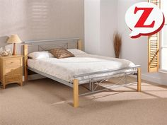 "Snuggle Beds Ashton 4' 6"" Double Metal Bed"