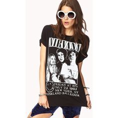Forever 21 Nirvana Concert Tee ($9.99) ❤ liked on Polyvore