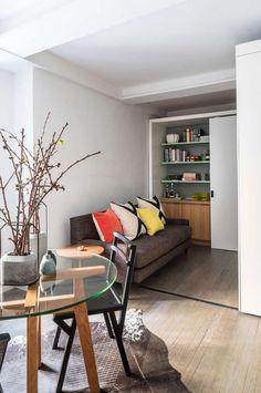 Mini apartamento con tabique móvil | Estilo Escandinavo