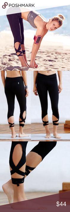 Selling this YOGA Turnout TIE LEGGINGS Black CAPRI Lace Up PANT on Poshmark! My username is: austin_gal. #shopmycloset #poshmark #fashion #shopping #style #forsale #austin gal #Pants
