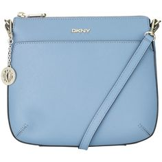 DKNY Bryant Top Zip Leather Across Body Bag, Blue ($160) ❤ liked on Polyvore featuring bags, handbags, shoulder bags, accessories, çanta, leather crossbody purse, leather cross body purse, leather hand bags, leather man bag and leather crossbody handbags