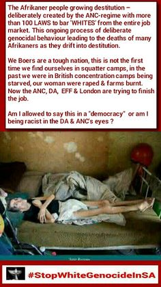 """VIDEO: Am I allowed to say this in a """"democracy"""" or am I being racist in the DA & ANC's eyes ? Stop White Genocide In SA Marketing Jobs, Human Rights, South Africa, Horror, Politics, Eyes, Sayings, Country, Africans"""