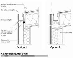 Billedresultat for metal roof hidden box gutter Timber Roof, Metal Roof, Zinc Roof, Detail Architecture, Modern Architecture, Box Gutter, Larch Cladding, Standing Seam Roof, Roof Detail