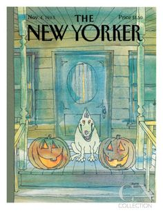 George Booth : Cover art for The New Yorker 3168 - 4 November 1985 The New Yorker, New Yorker Covers, Halloween News, Holidays Halloween, Vintage Halloween, Halloween Crafts, Halloween Stuff, Halloween Books, Halloween Artwork