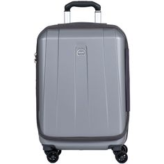 """Delsey Helium Shadow 3.0 21"""" Carry-On Spinner (485 SAR) ❤ liked on Polyvore featuring bags and luggage"""