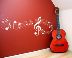 Music note scale Vinyl Lettering wall words quotes graphics decals Art Home decor itswritteninvinyl. $42.00, via Etsy.