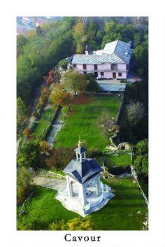 Cartolina su Cavour - Panoramica della vetta della rocca [Apre una nuova finestra]