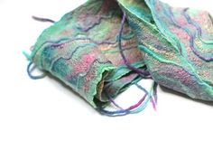 Gallery of FeltedPleasure's works - Felted Scarves and Nuno Felt Accessories
