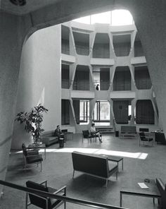 John Johanson / USA Embassy / Dublin / 1964 by kristy Space Architecture, Architecture Details, Urban Architecture, Mid-century Interior, Interior And Exterior, Interior Design, Vintage Interiors, Mid Century Modern Design, Brutalist