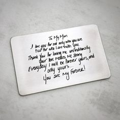 Custom Handwritten Love Note Wallet Card Christmas gift for him fiancee spouse Personalized Handwriting love note Wallet Card Silver Gift for Spouse husband wife Bday Gifts For Him, Surprise Gifts For Him, Thoughtful Gifts For Him, Romantic Gifts For Him, Christmas Gifts For Him, Gifts For Husband, Husband Wife, Holiday Gifts, Romantic Ideas