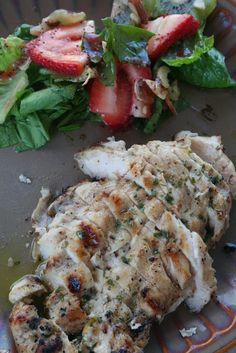 Grilled Orange Tarragon Chicken. This quick and easy Chicken is Juicy, Tender, flavorful and a little saucy! ohsweetbasil.com