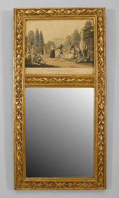 French Louis XVI mirror wall mirror gilt