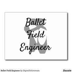 Ballet Field Engineer Postcard
