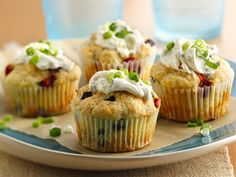 """Mediterranean """"Cupcakes"""" with Kalamata @Lindsay Olives, Feta & Roasted Red Bell Peppers @Betty Crocker"""