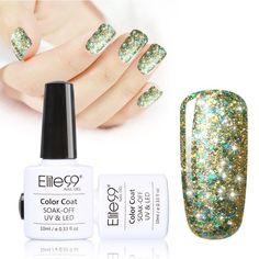 Elite99 Latest Soak Off Starry Gel UV LED Glitter Lacquer Polish Manicure 10ml Super Bling Gel Nail Polish Free Shipping