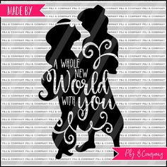A Whole New World Quote DIY Cutting File  SVG PNG by PBJnCompany