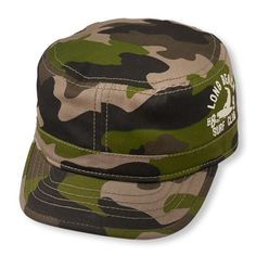 Baby Boys Toddler Boys  Long Beach Surf Club  Camouflage Military Hat -  Green - 955c1232a79d
