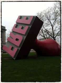 Possibly my favorite piece of public art, outside a government building (Cleveland, Ohio).