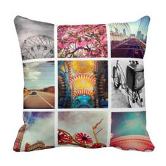 Create instant memories with your favorite photos on a variety of our products. Simply upload any of your own photos to create a digital DIY gift in seconds! Custom Pillows, Decorative Pillows, Pillow Fight, Pillow Talk, Square Photos, Textiles, My New Room, Decoration, Decorating Tips