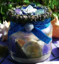 Healing Waters Ebb & Flow Altar Shrine Spell Jar by leighswiccanboutique