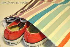 pontinhos ao vento: Saco para sapatos