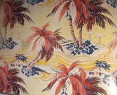 VINTAGE BETTY ZEE: Vintage Barkcloth