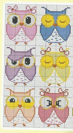 Owl stitching or perler bead patterns Cross Stitch Owl, Cross Stitch Animals, Cross Stitch Charts, Cross Stitch Designs, Cross Stitching, Cross Stitch Embroidery, Cross Stitch Patterns, Owl Patterns, Bead Loom Patterns