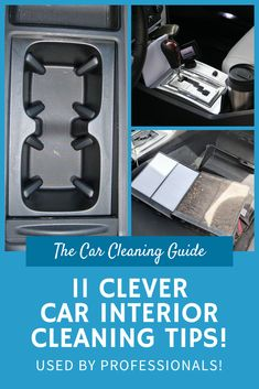 Cleaning your car's interior can be difficult and time consuming. Here are 11 clever car interior cleaning tips to make the process quick and easy! Car Cleaning Hacks, Car Hacks, Car Interior Cleaning, Car Interior Detailing, Car Detailing, Interior Design, Clean Cloth Car Seats, Foam Paint Brush, Clean Car Carpet