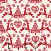 Scandi 4 - Set Reindeer Red Yardage