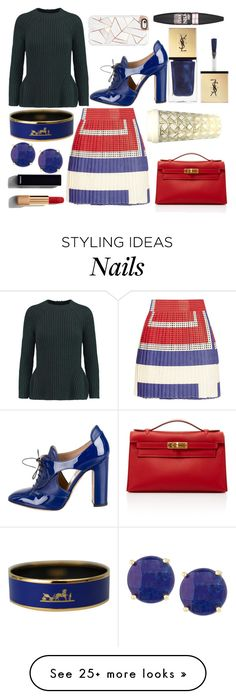 """""""Style On Point😉💟"""" by pulseofthematter on Polyvore featuring Iris & Ink, SUNO New York, Valentino, Hermès, Panacea, Casetify, Yves Saint Laurent, Chanel, Kate Spade and Maybelline"""