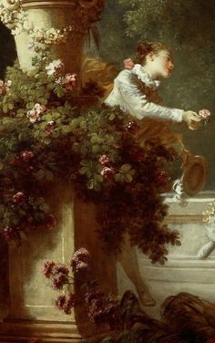 Jean-Honoré Fragonard, The Progress of Love : The Pursuit (detail)