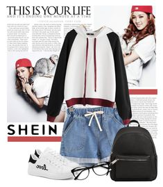 """""""Shein Hoodie"""" by polybaby ❤ liked on Polyvore featuring MANGO and EyeBuyDirect.com"""