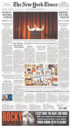 Rand Paul's speech at Berkeley gets the center of our NYT A1
