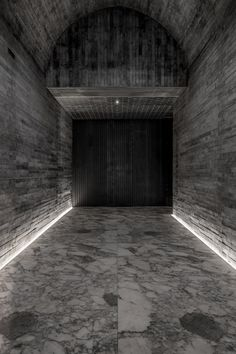 Photographs of a Swedish lake provided the reference material for this Hong Kong hotel, which is lined with flecked marble and textured concrete. Corridor Lighting, Linear Lighting, Strip Lighting, Lighting Design, Wall Lighting, Interior Lighting, Interior Ideas, Hong Kong Hotel, Hotel Corridor
