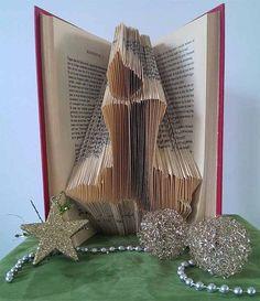 Candle - Folded Book Art - Original decoration - Holidays - Christmas - Handmade - Christmas gift - original gift - unique gift - 3D