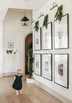 How to Decorate a Large Wall | Jenna Kate at Home