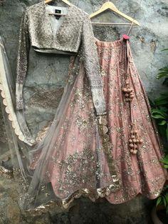 Buy Online Punjabi Wedding Lehenga Designer Collection Call/ WhatsApp us 77164 Indian Gowns Dresses, Indian Fashion Dresses, Indian Designer Outfits, Pakistani Dresses, Fashion Outfits, Anarkali, Red Lehenga, Lehenga Choli, Saree Gown