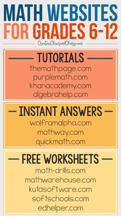 Free STEM Websites for Grades Middle School and High School Free Math Websites for Grades – great for homeschool math - College Scholarships Tips High School Hacks, Life Hacks For School, School Study Tips, Middle School Hacks, Home School Ideas, Middle School Stem, Middle School Counseling, High School Science, Free Math Websites