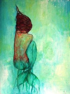 Mermaid laying down