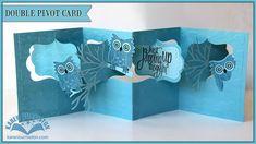 card making video tutorial ... Katie Label Pivot Card ... super cute ...