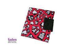 Portemonnaie pink schwarz von Fadenelemente auf Etsy, €18,90