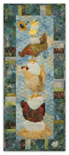 Which Came First? Chicken Quilt Pattern by McKenna Ryan