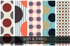 Dots & Stripes #dots #polkadots #stripes #modern #colorfuldots #moderndotspattern #dotspattern #boldcolors #funpatterns #photoshoppattern #creativemarket