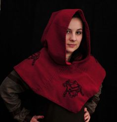 Hood from Skjoldehamn red embriodery from Sweden 5