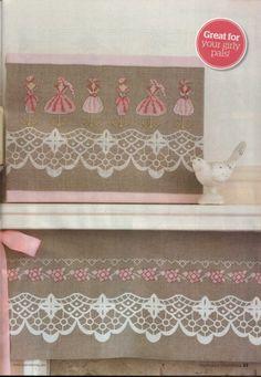 ru / Фото - The world of cross stitching Diary 2013 - tymannost Cross Stitch Boarders, Cross Stitching, Cross Stitch Patterns, Cross Stitch Pictures, White Lace, Needlework, Pattern Design, Vintage Fashion, Girly