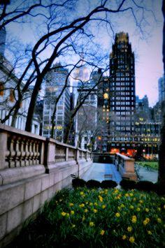 Bryant Park At Night - New York City
