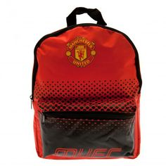 Spacious Manchester United school bag which is not only functional but fashionable too! Ideal for carrying your books, gym kit etc. FREE DELIVERY on all of our football gifts. Manchester United Merchandise, Manchester United Gifts, Manchester United Football, Junior Backpacks, Kids Backpacks, School Backpacks, Fade Designs, Designer Backpacks, School Bags For Kids