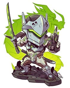 All new chibis are on sale right now at www.dereklaufman.com (link in my profile) Use the promo code SUMMER at checkout to save 25% when you spend $30 or more. Don't miss out! We ship worldwide! #overwatch #genji #chibi #fanart #mangastudio...