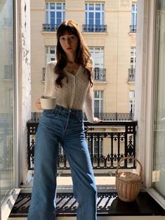 Wearing the Balzac Sully Sweater in my Parisian apartment! European Fashion, French Fashion, Vintage Fashion, European Travel, Victorian Fashion, Casual Chic Sommer, Parisian Chic Style, Classy Style, Capsule Wardrobe Mom